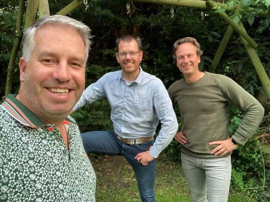 Rogier Verbeek, Paul van der Heijden en Bas von Pickartz